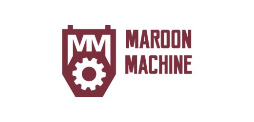Maroon Machine logo - Logo created for Sales Team