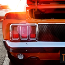 Classic 1970 Mustang Orange