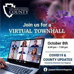 Social Media Post for San Bernardino County Board of Supervisors Townhall